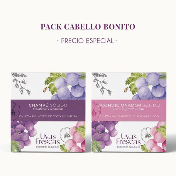 """Pack """"Cabello Bonito"""" champú + acondicionador sólidos 1"""